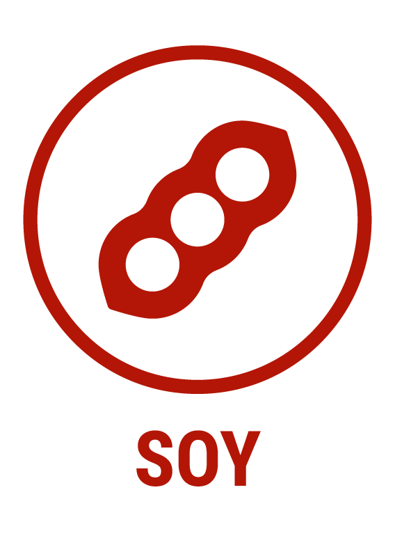 Contains soy